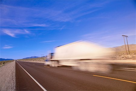 peter griffith - Transport Truck on Highway, Nevada, USA Stock Photo - Premium Royalty-Free, Code: 600-00171282