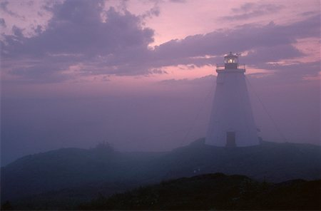 Swallowtail Lighthouse at Dawn, Grand Manan Island, New Brunswick, Canada Stock Photo - Premium Royalty-Free, Code: 600-00173939