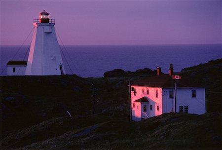 Swallowtail Lighthouse at Dawn, Grand Manan Island, New Brunswick, Canada Stock Photo - Premium Royalty-Free, Code: 600-00173940
