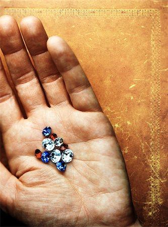 Hand Holding Gems Stock Photo - Premium Royalty-Free, Code: 600-00199199