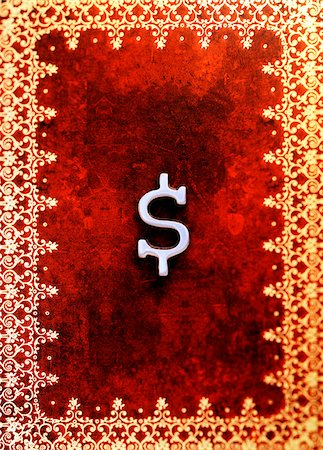 Dollar Sign on Book Cover Stock Photo - Premium Royalty-Free, Code: 600-00199217