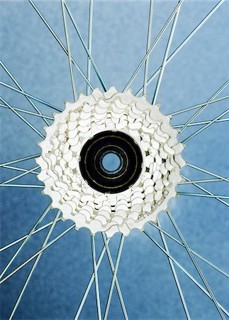 Close-Up of Bicycle Wheel Stock Photo - Premium Royalty-Free, Code: 600-00190965