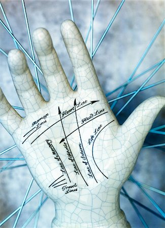 palm - Close-Up of Ceramic Hand Stock Photo - Premium Royalty-Free, Code: 600-00190989