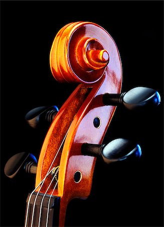 scroll (design) - Close-Up of Violin Stock Photo - Premium Royalty-Free, Code: 600-00190982
