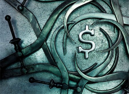 Callipers around Dollar Sign Stock Photo - Premium Royalty-Free, Code: 600-00270106