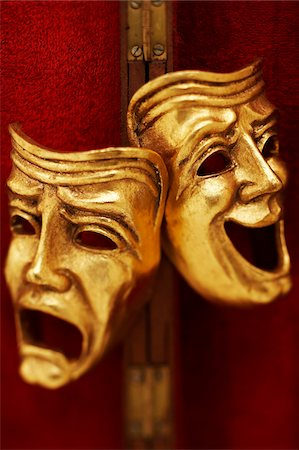 Theatrical Masks Stock Photo - Premium Royalty-Free, Code: 600-00551146