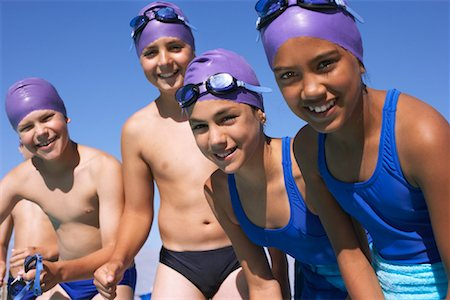 Swimmers by Pool Stock Photo - Premium Royalty-Free, Code: 600-00814618