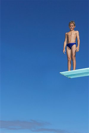 Boy on Diving Board Stock Photo - Premium Royalty-Free, Code: 600-00814649