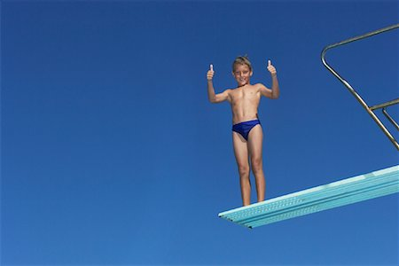 Boy on Diving Board Stock Photo - Premium Royalty-Free, Code: 600-00814650