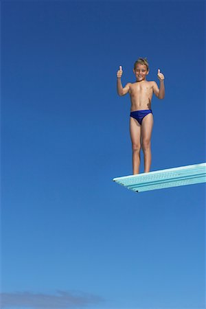 Boy on Diving Board Stock Photo - Premium Royalty-Free, Code: 600-00814651
