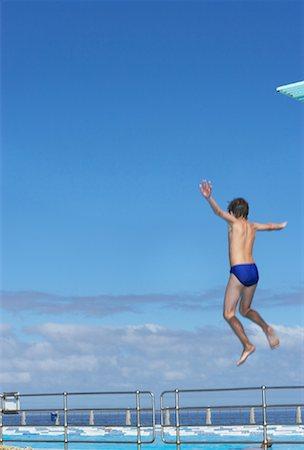 Boy Diving Stock Photo - Premium Royalty-Free, Code: 600-00814653