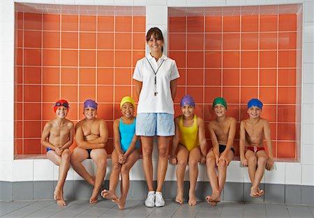 Swimmers in Locker Room Stock Photo - Premium Royalty-Free, Code: 600-00814716