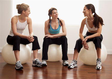 Women Sitting on Exercise Balls Stock Photo - Premium Royalty-Free, Code: 600-00824811