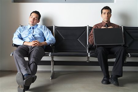 front row seat - Businessmen in Waiting Area Stock Photo - Premium Royalty-Free, Code: 600-00823417