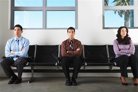 front row seat - Business People in Waiting Area Stock Photo - Premium Royalty-Free, Code: 600-00823435