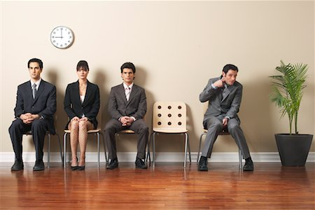 sweaty businessman - Business People in Waiting Area Stock Photo - Premium Royalty-Free, Code: 600-00846279