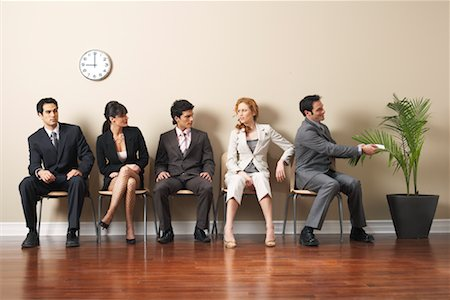 sweaty businessman - Business People in Waiting Area Stock Photo - Premium Royalty-Free, Code: 600-00846280