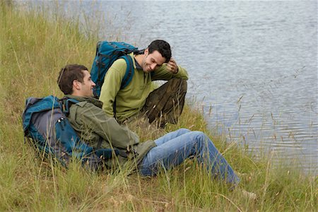 simsearch:600-00846421,k - Two Hikers Taking a Break Stock Photo - Premium Royalty-Free, Code: 600-00846425