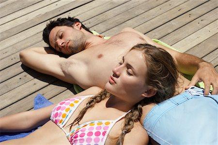 Couple Relaxing Stock Photo - Premium Royalty-Free, Code: 600-00846438