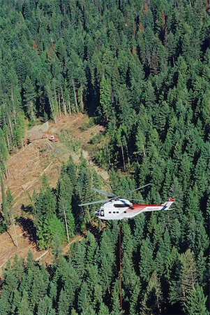 Heli-logging, British Columbia, Canada Stock Photo - Premium Royalty-Free, Code: 600-00847294