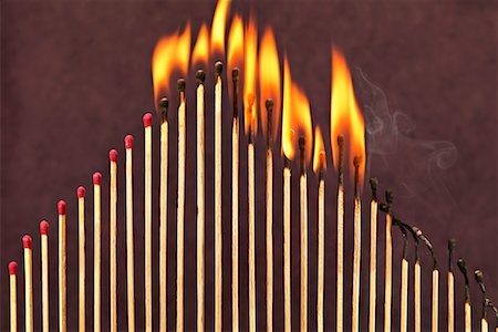 Matches on Fire Stock Photo - Premium Royalty-Free, Code: 600-00866721