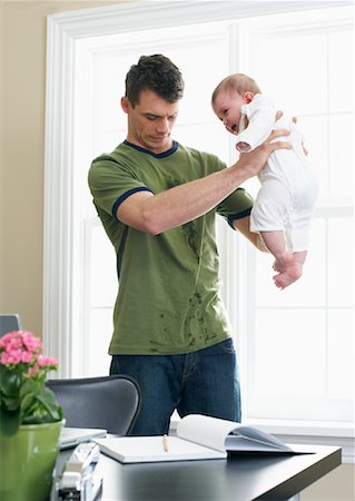 Father With Baby Stock Photo - Premium Royalty-Free, Code: 600-00909577