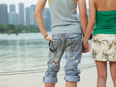 Couple Holding Hands Stock Photo - Premium Royalty-Free, Code: 600-00910373