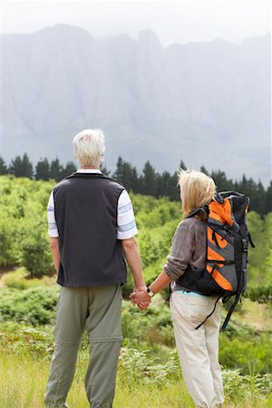 simsearch:600-00846421,k - Couple Hiking Stock Photo - Premium Royalty-Free, Code: 600-00911893