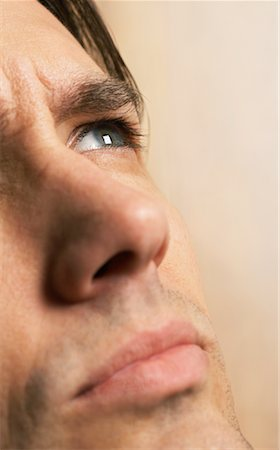 Close-Up of Man's Face Stock Photo - Premium Royalty-Free, Code: 600-00934335