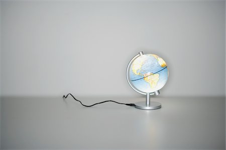 Illuminated Globe Stock Photo - Premium Royalty-Free, Code: 600-00933867