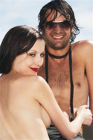 Portrait of Topless Couple Stock Photo - Premium Royalty-Free, Code: 600-00948387