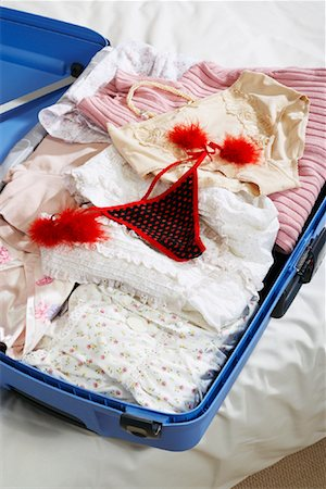 Sexy Underwear in Suitcase Stock Photo - Premium Royalty-Free, Code: 600-00954729
