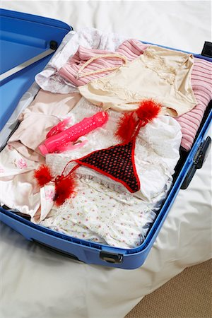 Vibrator and Sexy Underwear In Suitcase Stock Photo - Premium Royalty-Free, Code: 600-00954730