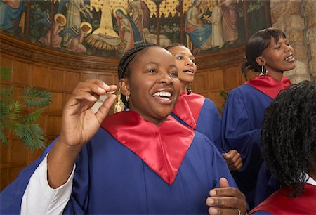 Gospel Choir Stock Photo - Premium Royalty-Free, Code: 600-00984044