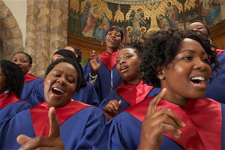 Gospel Choir Stock Photo - Premium Royalty-Free, Code: 600-00984046