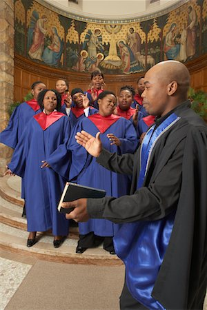 Gospel Choir and Minister Stock Photo - Premium Royalty-Free, Code: 600-00984047