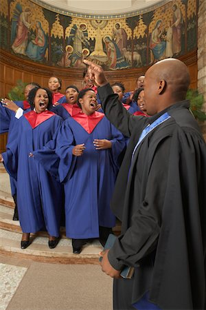 Gospel Choir and Minister Stock Photo - Premium Royalty-Free, Code: 600-00984048
