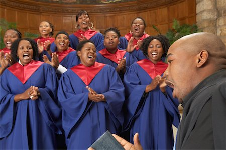 Gospel Choir and Minister Stock Photo - Premium Royalty-Free, Code: 600-00984049