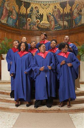 Gospel Choir Stock Photo - Premium Royalty-Free, Code: 600-00984043