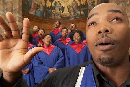Gospel Choir and Minister Stock Photo - Premium Royalty-Free, Code: 600-00984054