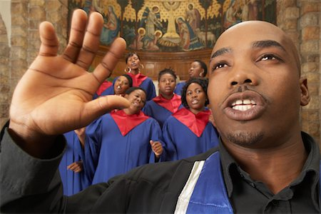 Gospel Choir and Minister Stock Photo - Premium Royalty-Free, Code: 600-00984055