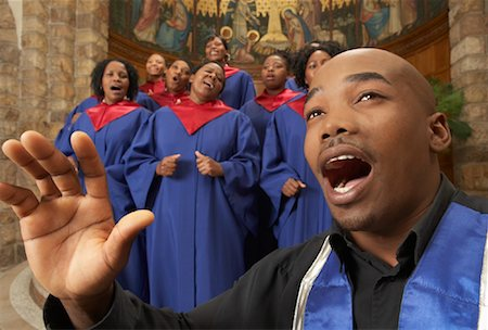 Gospel Choir and Minister Stock Photo - Premium Royalty-Free, Code: 600-00984056