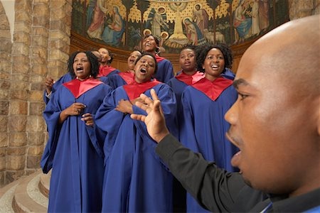 Gospel Choir and Minister Stock Photo - Premium Royalty-Free, Code: 600-00984057
