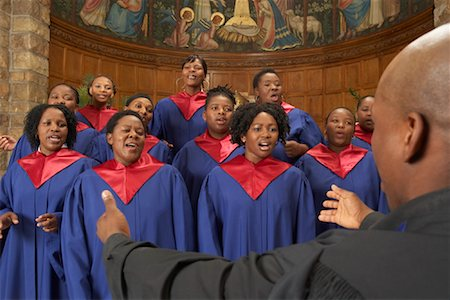 Gospel Choir and Minister Stock Photo - Premium Royalty-Free, Code: 600-00984059