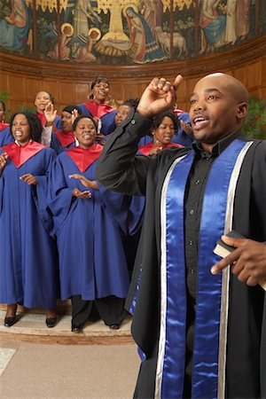 Gospel Choir and Minister Stock Photo - Premium Royalty-Free, Code: 600-00984050