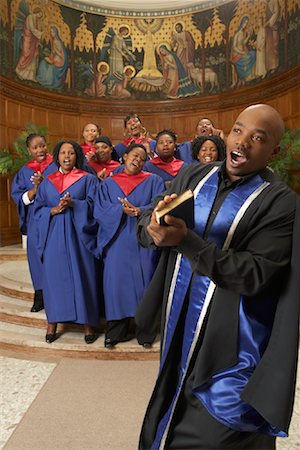 Gospel Choir and Minister Stock Photo - Premium Royalty-Free, Code: 600-00984051
