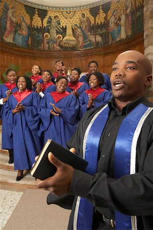 Gospel Choir and Minister Stock Photo - Premium Royalty-Free, Code: 600-00984052