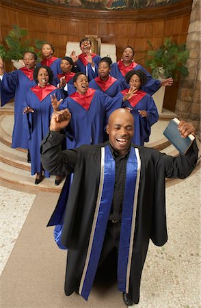 Gospel Choir and Minister Stock Photo - Premium Royalty-Free, Code: 600-00984053