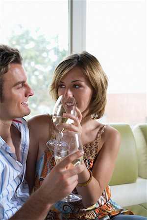 sexually aroused woman - Couple Drinking Wine Together Stock Photo - Premium Royalty-Free, Code: 600-00984119