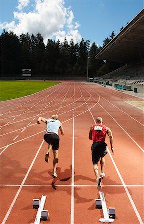 Men Starting Race Stock Photo - Premium Royalty-Free, Code: 600-01037079
